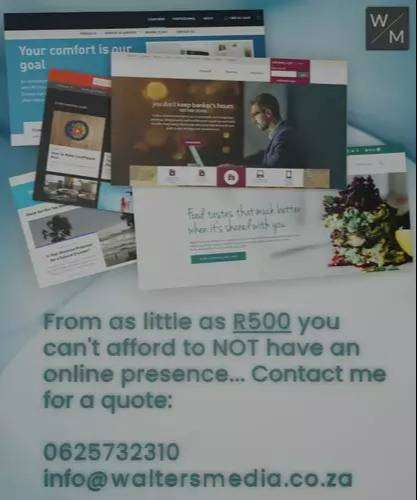 Affordable Web Design from as little as R500!