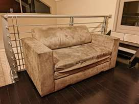 Suede Sleeper Couch