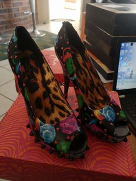 Iron Fist Lolly Pop Studded Heels, second hand, size 8
