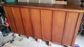 Wooden bar and wall cabinet and shelve set for sale.