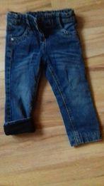 Spodnie jeansowe ocieplane rozmiar 86