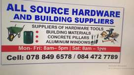 All SOURCES HARDWARE AND BUILDING SUPPLIERS