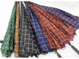 Акция зонт трость 10 спиц клетка новые мужской зонт женский зонт