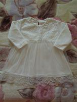 Платье детское, верх вышивка, юбка фатин.