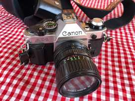 Canon AE-1 35mm Film Camera with 2 lenses