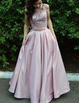 Платье на выпускной пудровый цвет