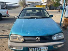 VW GOLF (3) 1.8-FOR SALE AS IS OR AVAILABLE FOR STRIPPING FOR SPARES
