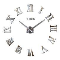 Настенные часы с римскими цифрами арт.003. 3Д часы на стену
