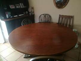 Dining table, buffet and chairs