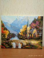 Картина выполненная акриловыми красками