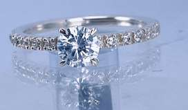 Hand-made silver CZ ring