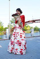 Вечернее выпускное платье р42-44 (2 юбки и топ)
