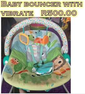 baby bouncer & play mat for sale