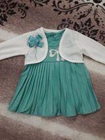 Нарядное платье с болеро на девочку 6-9 мес
