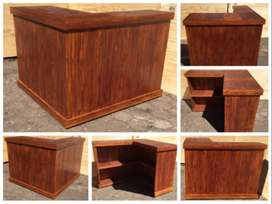 Bar Counter Farmhouse series 1550 L-shape - Stained