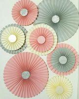 Веерные круги. Веера. Бумажный декор на праздник. Фотозона. Гирлянда