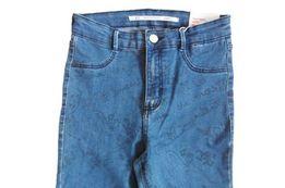 jeansy z dziurami na kolanach, Zara, nowe z metką, przylegające jeansy
