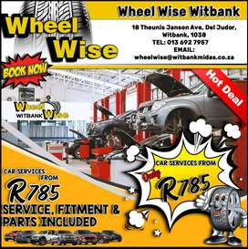 BOOK NOW! Car Services from ONLY R785 at Wheel Wise Witbank!