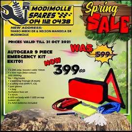 Autogear 9 Piece Emergency Kit ONLY R399 at Modimolle Spares!