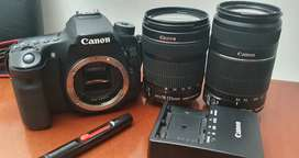 Canon 70D plus 2 lenses - bag and charger