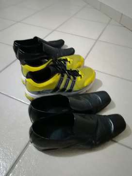 Two Size 11 formal shoes and Adidas Trainer R150
