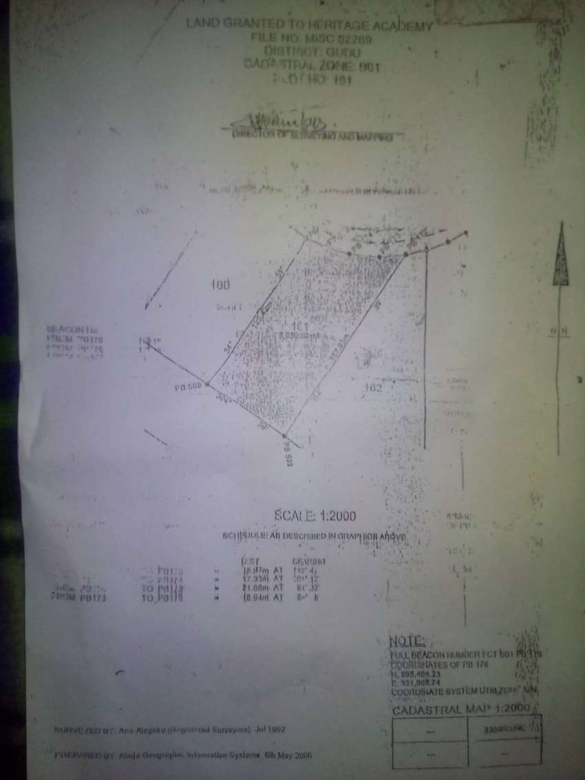 A commercial land of 8,930 sq/m with C of O for sale in Gudu Abuja 0