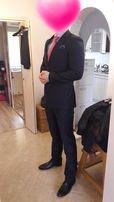 Elegancki garnitur marki ALBIONE z dwiema parami spodni