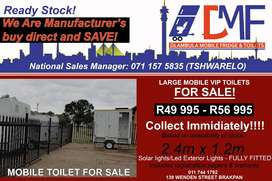 Mobile Toilets, Fridges For Sale, and more