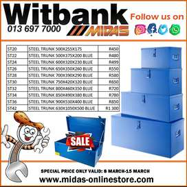 Steel Trunks Sale at Midas Witbank!