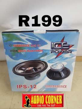 "Ice Power Sub 12"" 3000w svc"