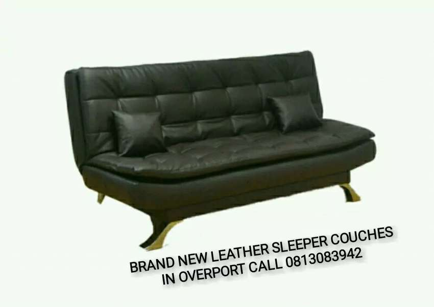 Brand new leather sleeper couches sofa beds on promotion offer 0