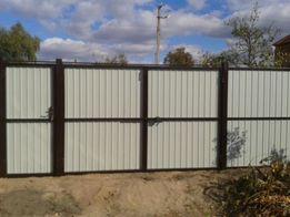 Изготовлю ворота или забор с проф настила