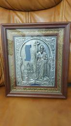 Икона Святого Апостола Андрея Первозванного. Серебро и бронза