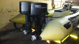 Dubbel hull rubber duck with 1x25hp Yamaha and 30 hp Yamaha