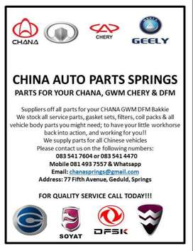 Chery and Chana Spare Parts For Your Vehicle