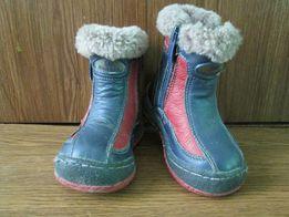 Зимові чобітки з Німеччини.Шкіра,цегейка.12,5см.