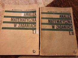 Analiza matematyczna w zadaniach W.Krysicki L.Włodarski TOM I, II