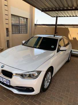 Clean white BMW,