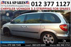 Chrysler Voyager 3.3* 2003-07 stripping for used spares