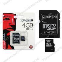 Карта памяти Micro SD 4ГБ Kingston 10 class