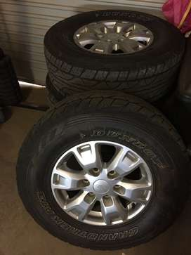"""Ford Ranger T6 and T7 Original 16"""" Mag wheels and tyres"""