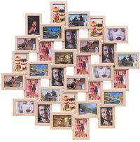 АКЦИЯ -25%! Мультирамка 32 фото рамка коллаж рамка дерево подарок