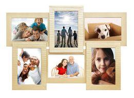 АКЦИЯ -25%! Коллаж фоторамка мультирамка рамка дерево 6 фото подарок