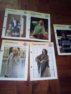 10 LADIES KNITTING PATTERNS LOT 1