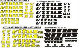 VITUS bicycle frame stickers decal kits