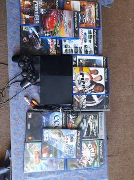Playstation 2 plus 14 games
