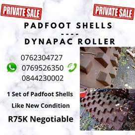 PADFOOT SHELLS FOR A DYNAPAC ROLLER - LIKE NEW