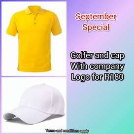 Branded golfers and caps