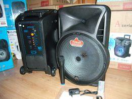 Blueooth Колонка чемодан FUHAU-A15 с МР3 micro SD,USB,FM+ радио мик