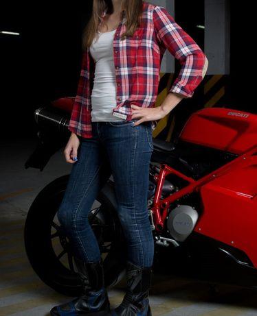 Męskie lub damskie spodnie motocyklowe legginsy z kevlarem pod jeansy Józefów - image 2